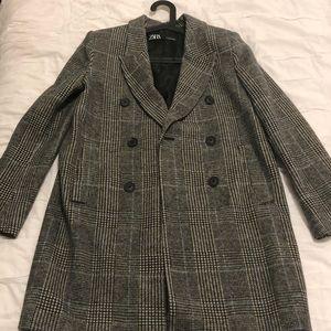 Zara Double Blazer Coat / Jacket in size XS